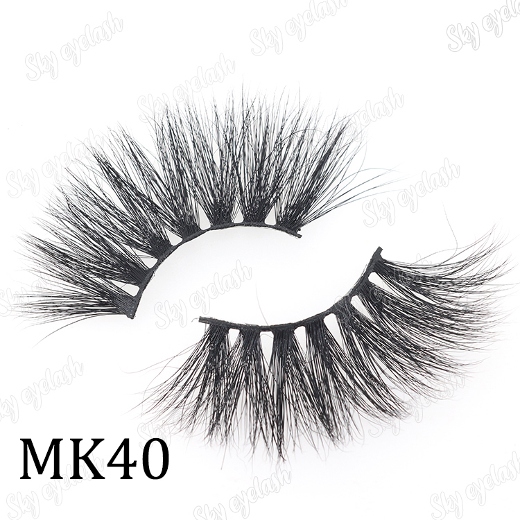 Sky eyelash manufacturer distribute 25 millimeter lashes with wholesale price