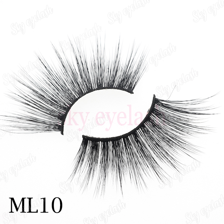 25mm 3D faux mink eyelashes wholesale with cheap boxes from eyelash factory-BW