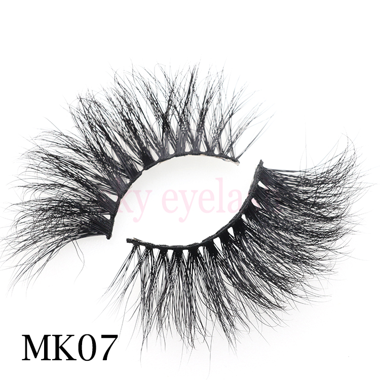 High quality 25mm 5D false eyelashes with custom brand packaging boxes USA CO
