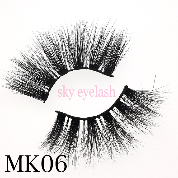 Sky eyelash supplier wholesale 25mm 5d mink lashes in bulk with private label to USA/NY