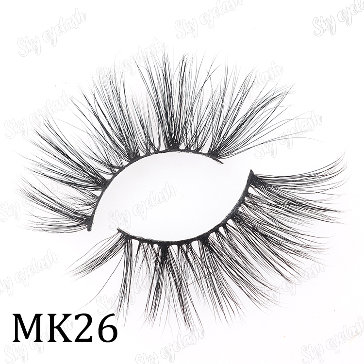 Sky eyelash vendor wholesale mink 25mm eyelash extensions with private label