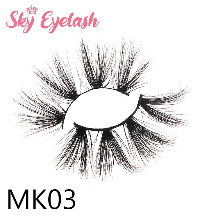 25mm long 3D mink eyelash wholesale custom eyelash package print own logo OL