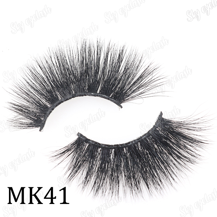 Find 25mm mink lashes near me with private label wholesale from Sky eyelash vendor