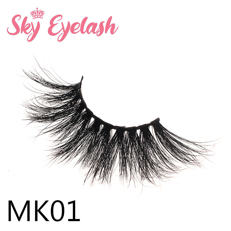 Best selling 25mm long natural 3D mink eyelashes factory wholesale vendor USA YO