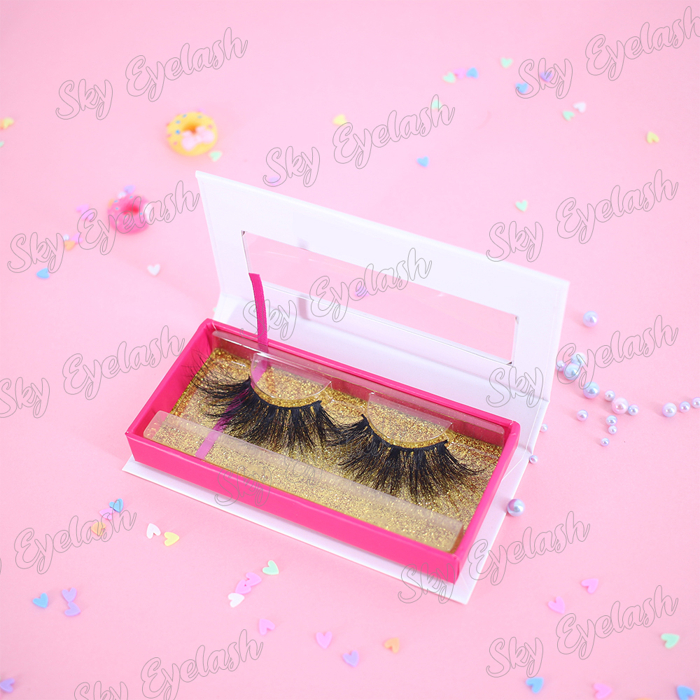 3D mink lashes vendor supply luxury lashes with magnetic lash cases-BW