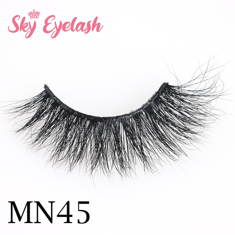 Strip eyelash wholesale distributor real mink 3D mink eyelashes with package-SX