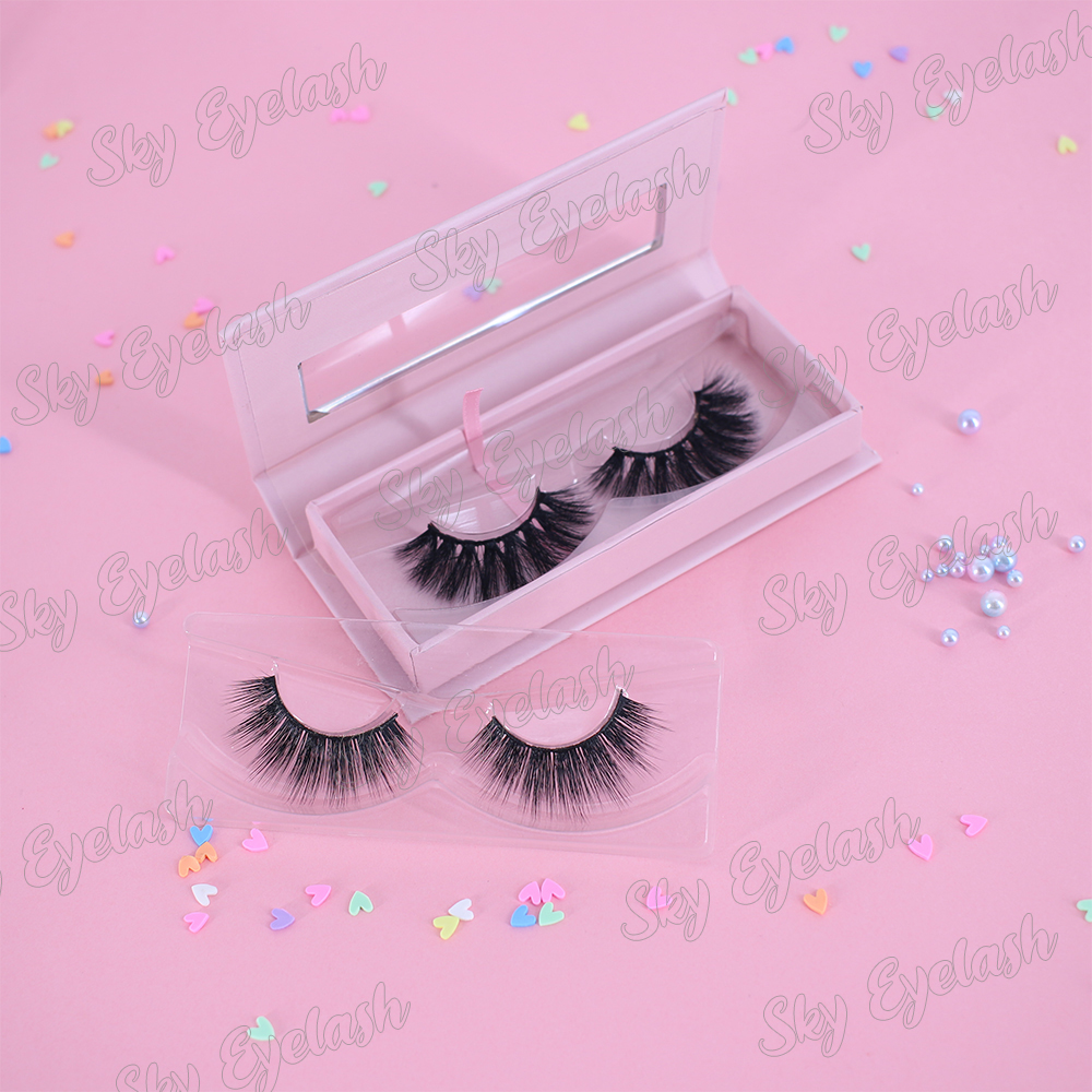 Hand made 3D faux mink lashes cheap price with beautiful private lash packaing-BW