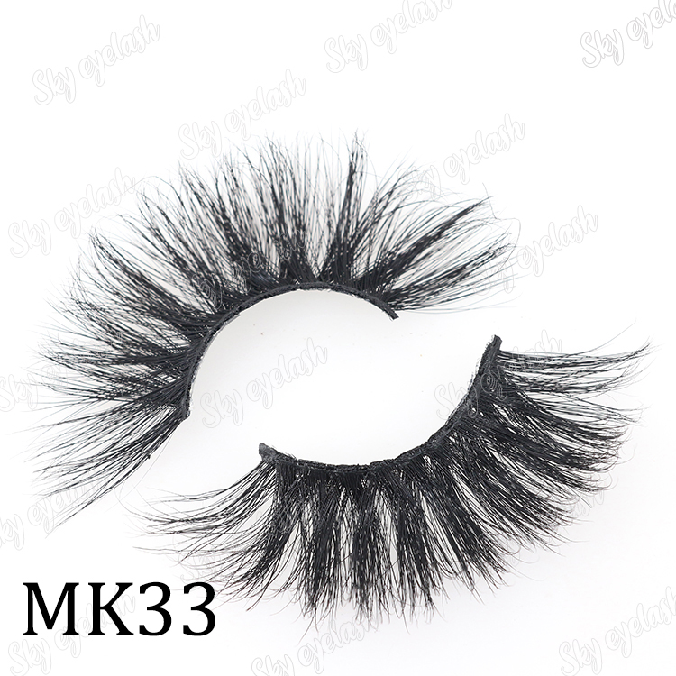 Sky eyelash suppliers wholesale 3d 25mm mink lashes with custom package