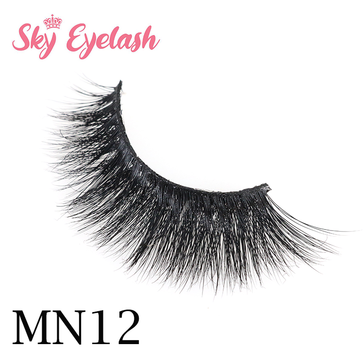3D lashes manufacturer wholesale real mink eyelashes with custom lash packaging-SX
