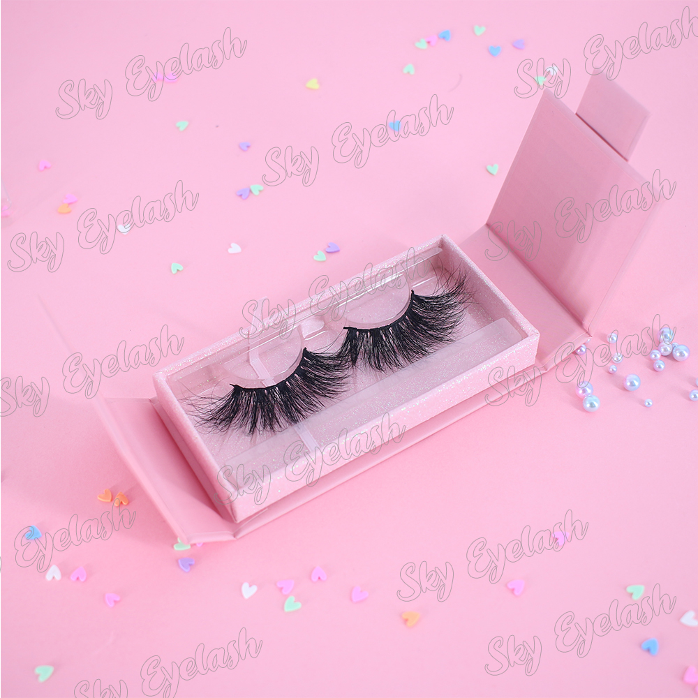 Fluffy real mink 3D lashes wholesale to US with handmade unique lash packaging-BW