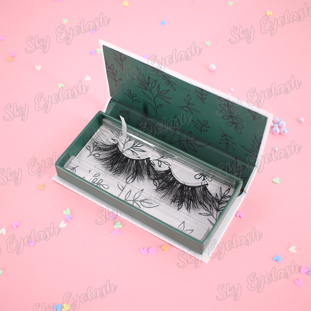 Eyelash vendor manufacturing glamours 3D mink lashes 25mm lashes wholesale to UK-BW