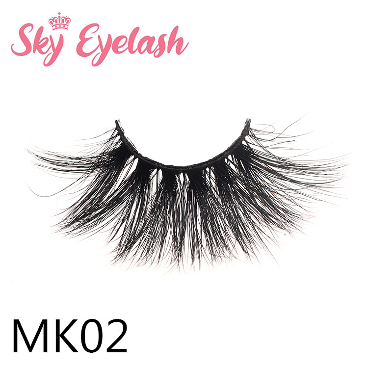 Best 25mm long 3D full strip mink eyelashes vendor with custom lashbox vendor Canada YO