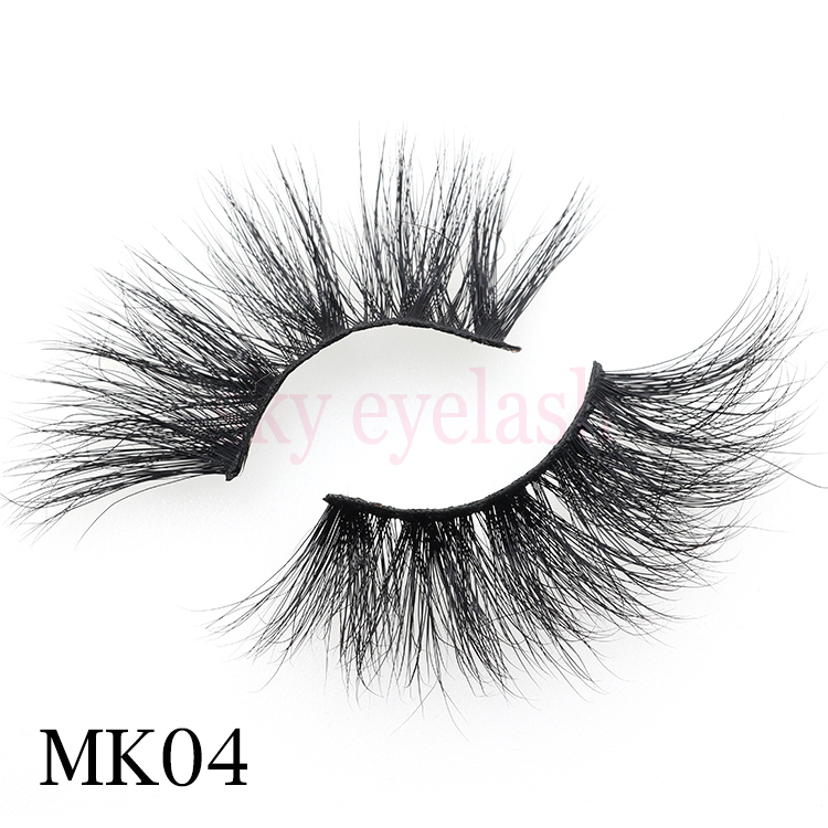 25mm 5d real mink eyelashes wholesale with custom packaging to US-BW
