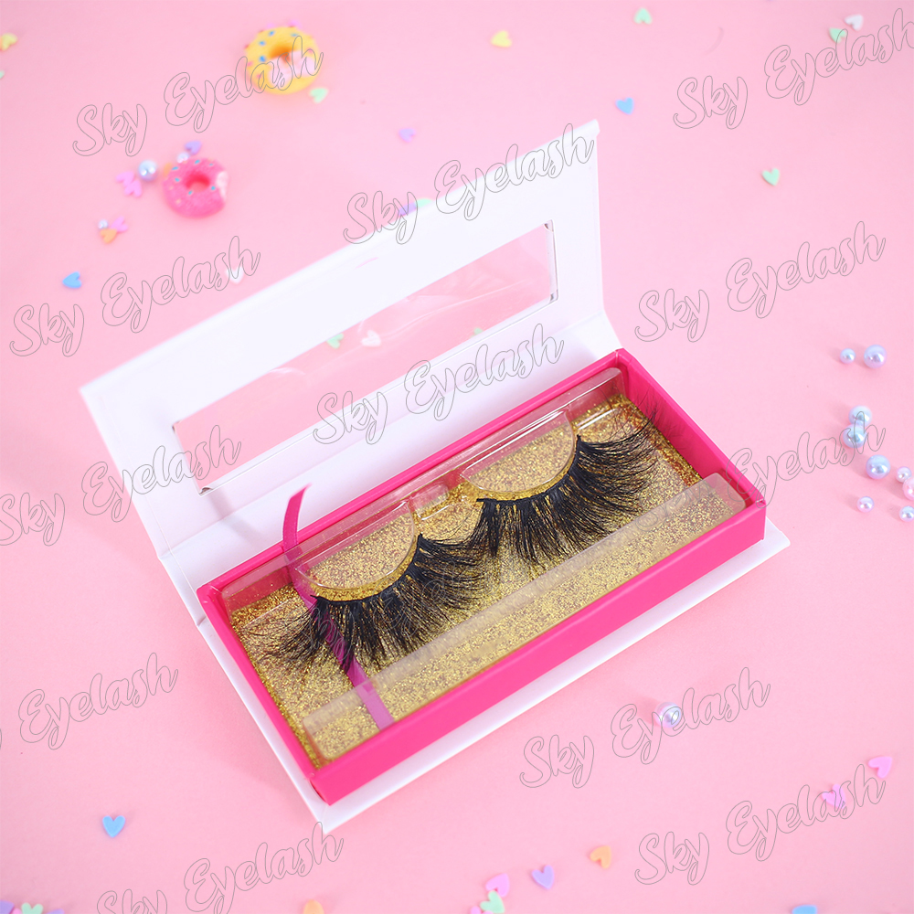 Eyelash wholesaler supply new 3D real mink lashes at a lower price with lash box-BW