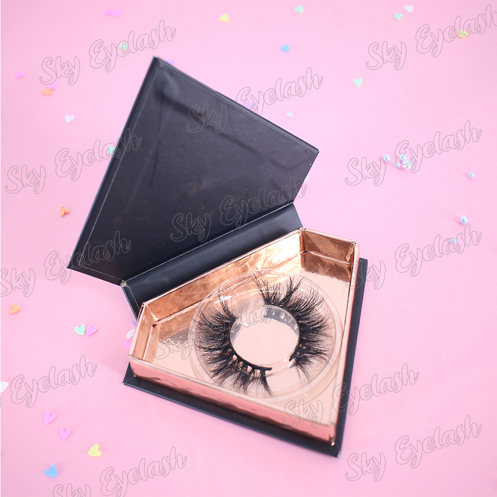 Eyelash manufacturer produce cheap eyelashes private label mink lashes 3D with magnetic box to UK-SX