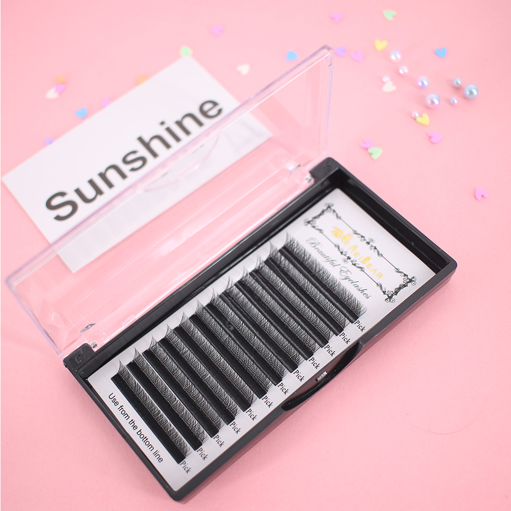 Professional eyelash extension supplies C curl soft 0.07mm YY eyelash extensions with private label to USA