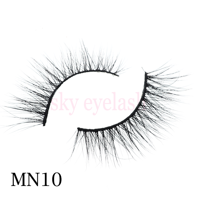 Real mink eyelashes vendor wholesale 3D mink lashes with glitter box-SX
