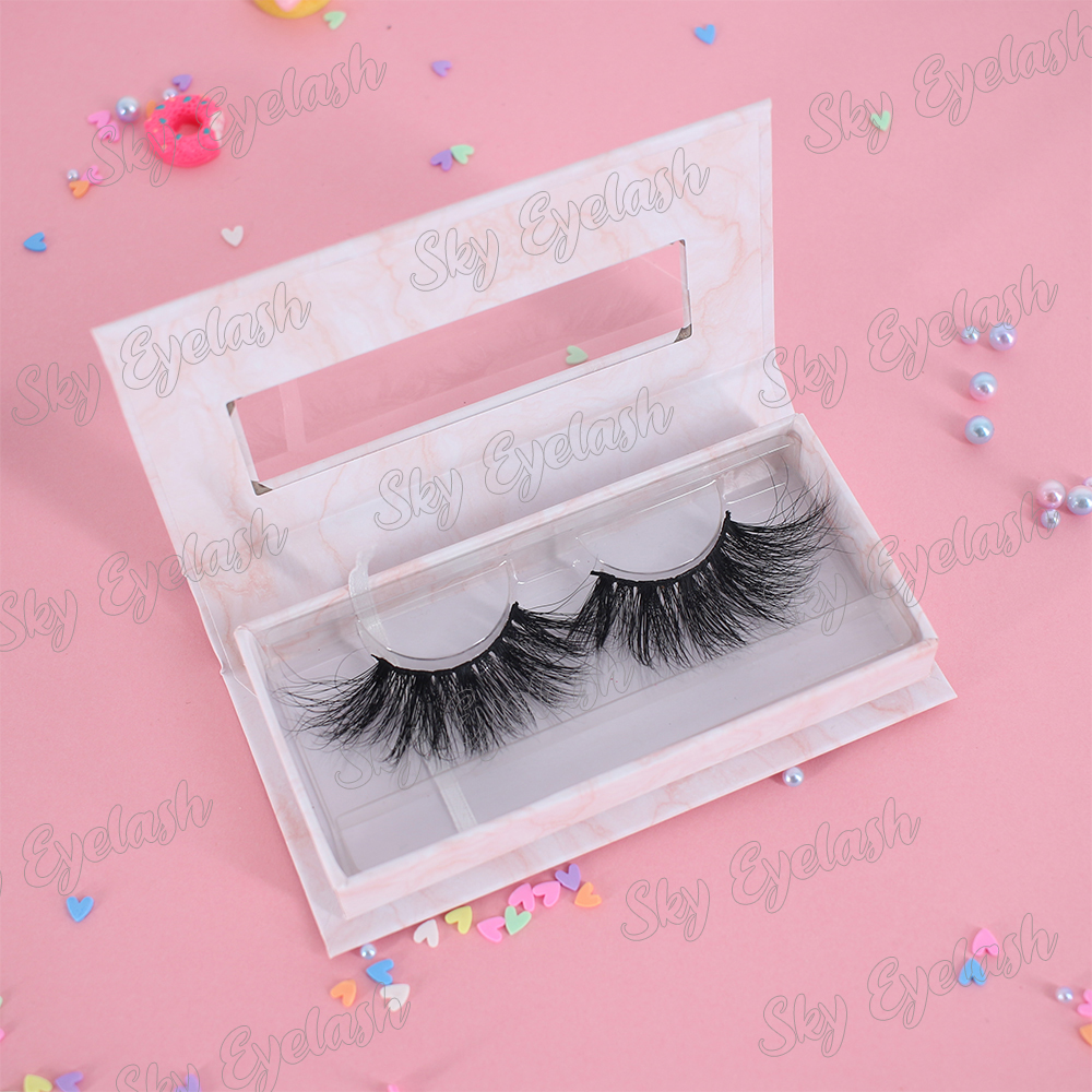 Lash vendor wholesale private label 3d mink lashes 25mm long eyelashes US-BW