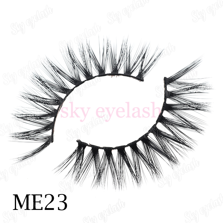 False eyelash vendor supply reusable 3D faux mink eyelashes with unique lash packaging to USA-SX