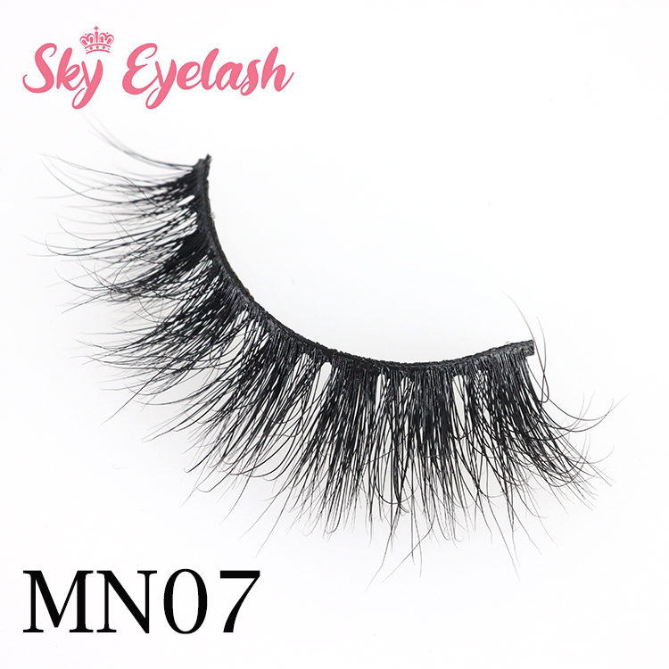 Real mink eyelashes wholesaler factory handmade mink fur 3D lashes to US-SX