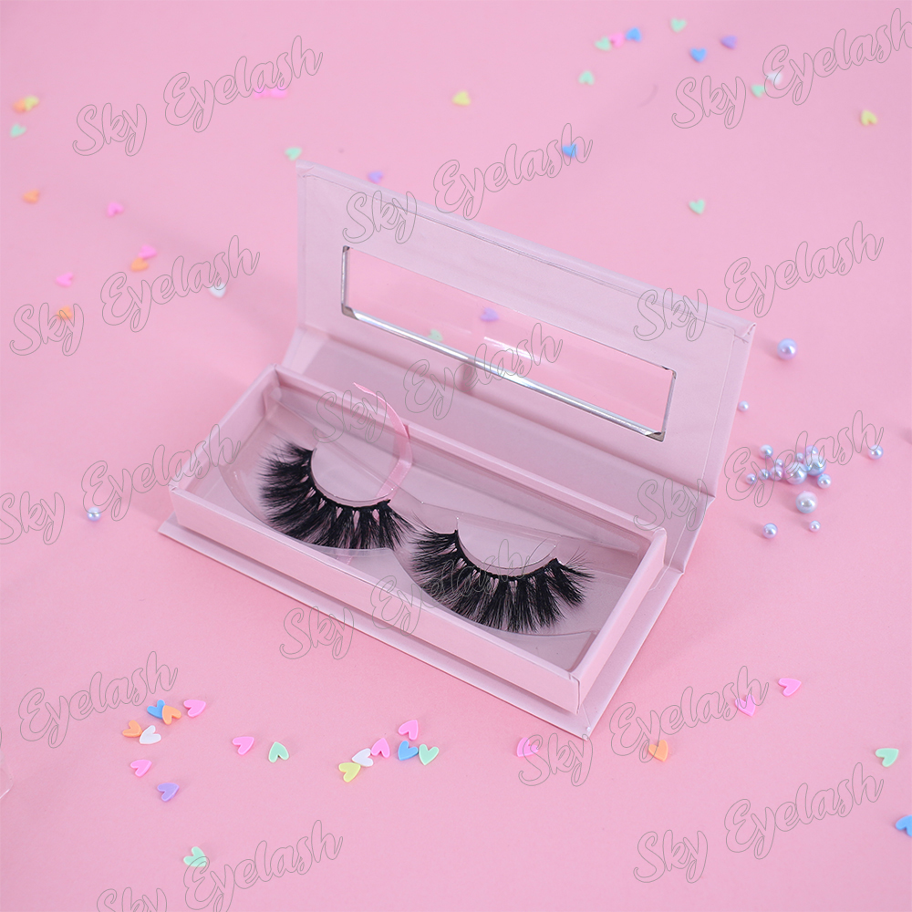 Natural looking 3D faux mink lashes wholesale vegan lashes vendor provide private lash boxes-BW