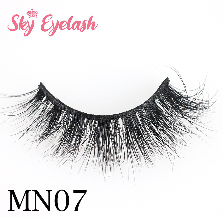 Eyelash manufacturer wholesale style stable soft 3D real mink eyelashes with private label-SX