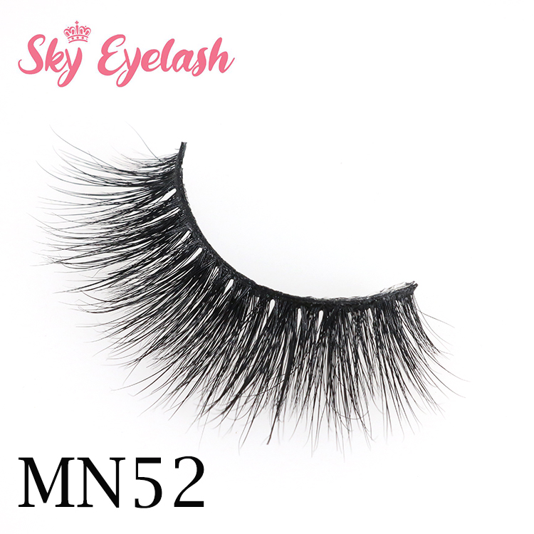 Real mink eyelashes vendor wholesale top quality 3d mink lashes with custom eyelash packaging-SX