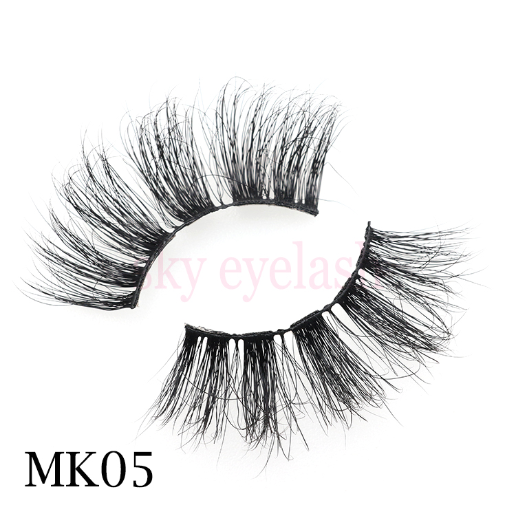 Best mink lashes vendor offer 3D mink eyelashes 25mm long lashes with customized package-SX
