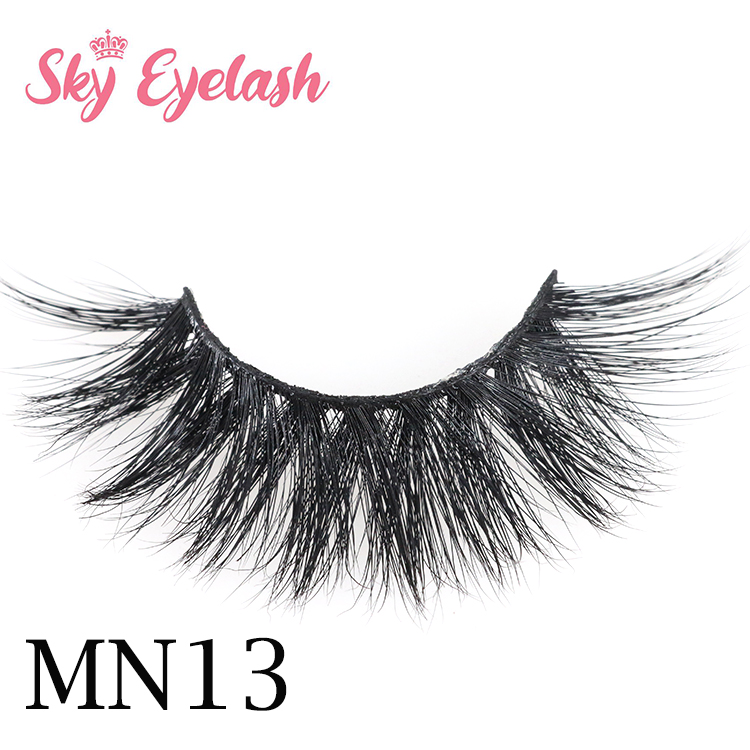 Wholesale mink lashes manufacturer supply curly 3D mink eyelashes with private label-SX