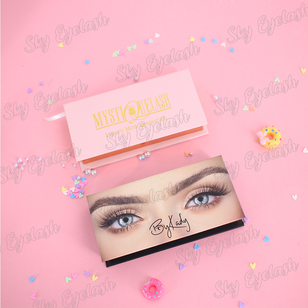 Lash vendor wholesale mink false eyelashes package with best lash glue to UK
