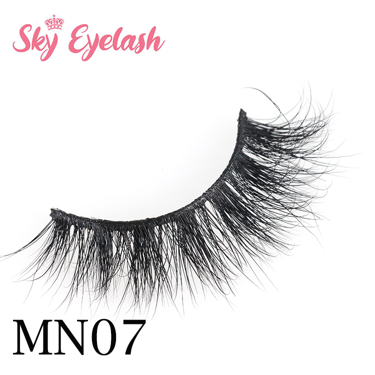 3D mink strip false eyelash vendor wholesale natural eyelashes packaging with own brand glue CO