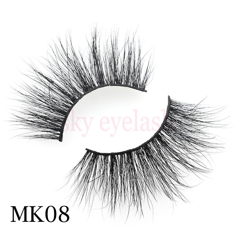 Popular 3D mink eyelash vendor supply Siberia mink fur lashes natural and cruelty free-BW