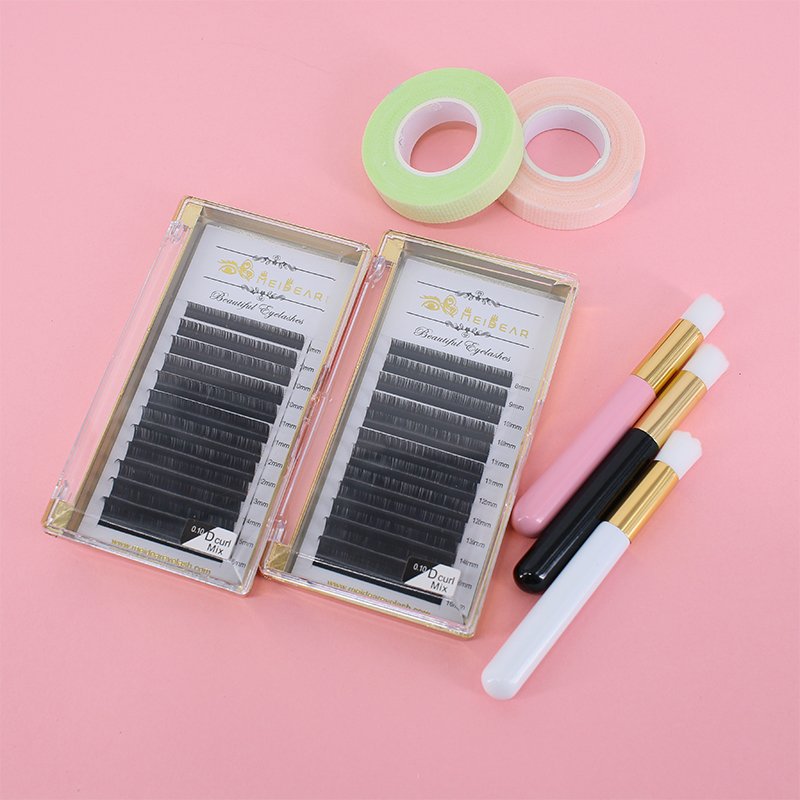 Custom private label eyelash extensions China supplier fast fan 5D factory price ES