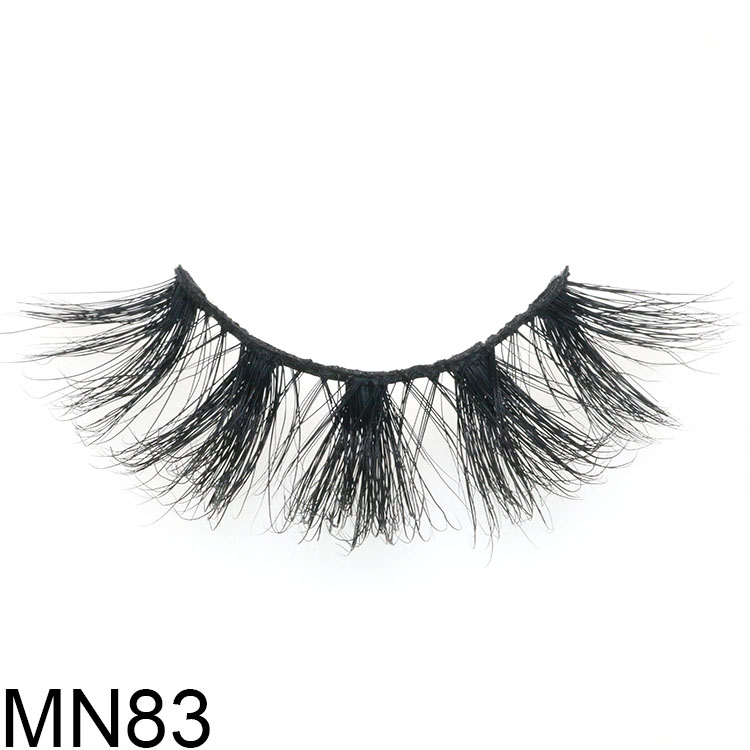 Wholesaler supply 25mm long 3D mink eyelash with private label packaging USA CO
