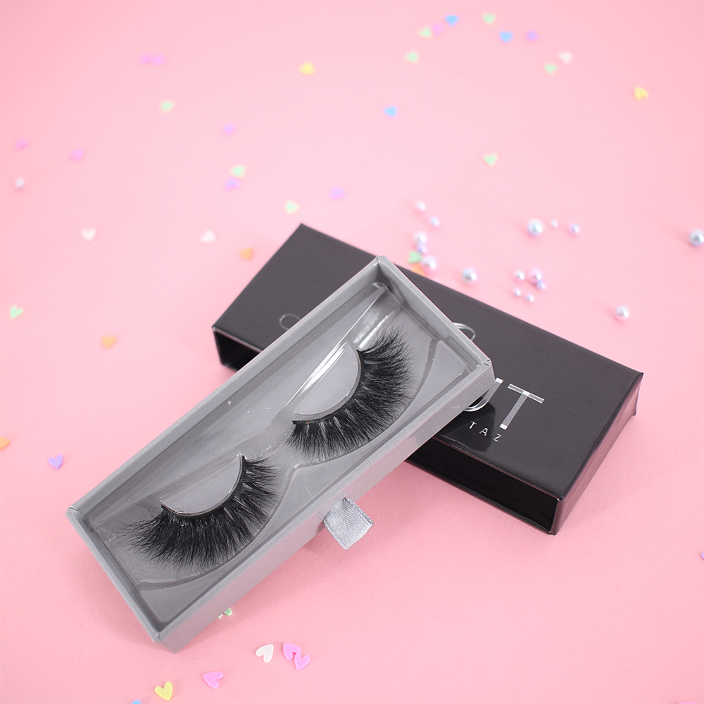 Invisible band 25mm 3D faux mink fake eyelashes with best lash glue adhesive