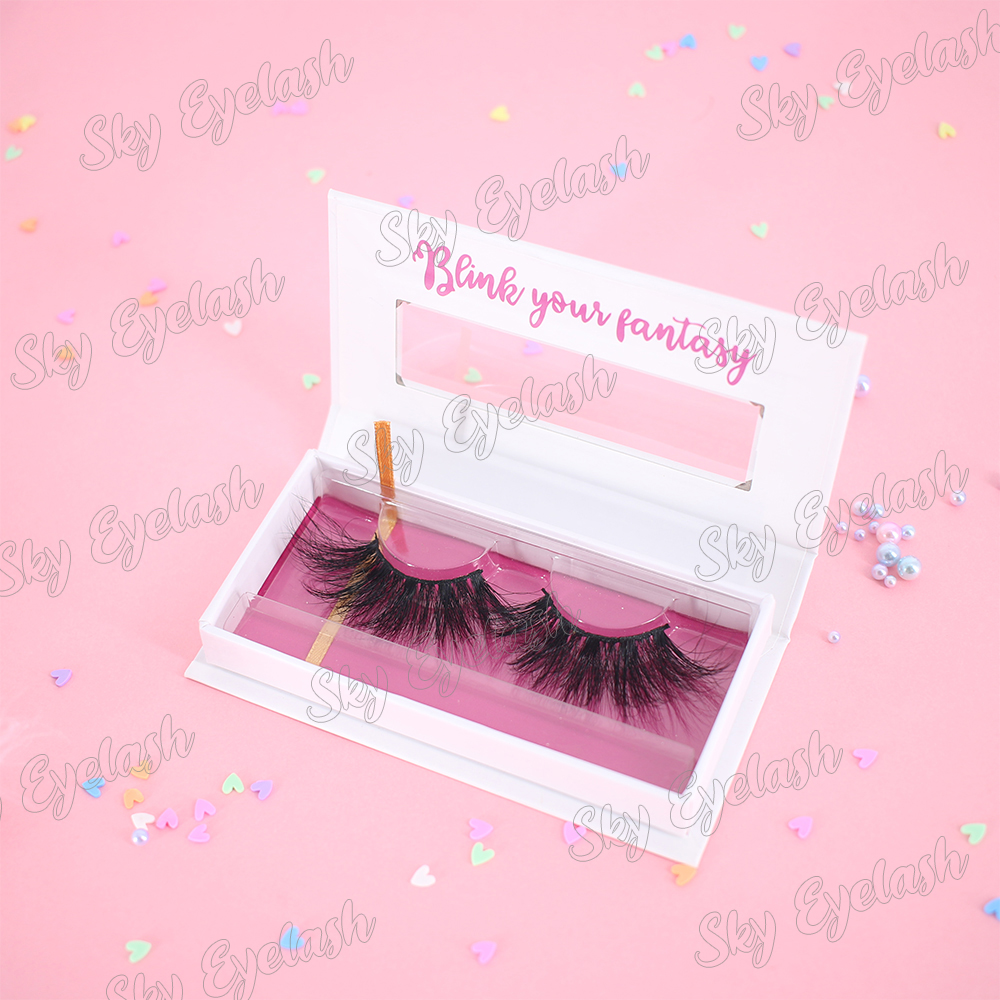 Wholesaler supply top 3D faux mink eyelashes synthetic lashes with packaging