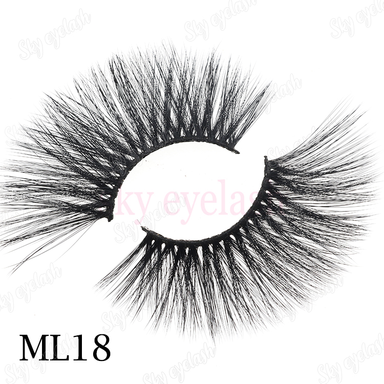 3d mink lashes wholesale vendor supplies 25mm 3D faux mink eyelashes to Canada-BW