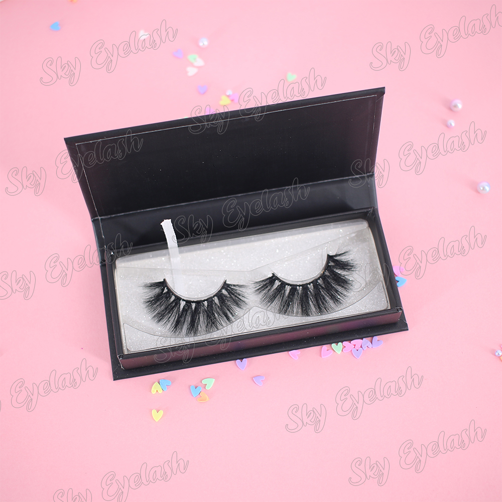 Lashes vendor offer fluffy handmade 3D faux mink sythetic fiber lashes with private brand packaging-BW