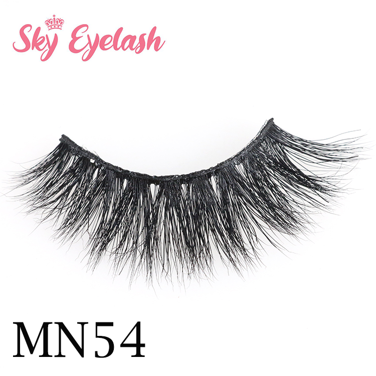 Top full strip eyelash vendor 3D real mink eyelash with private pakage USA YO