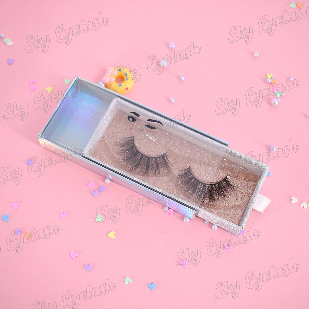 False eyelash vendor wholesale natural eyelashes 3D mink lashes with best lash glue