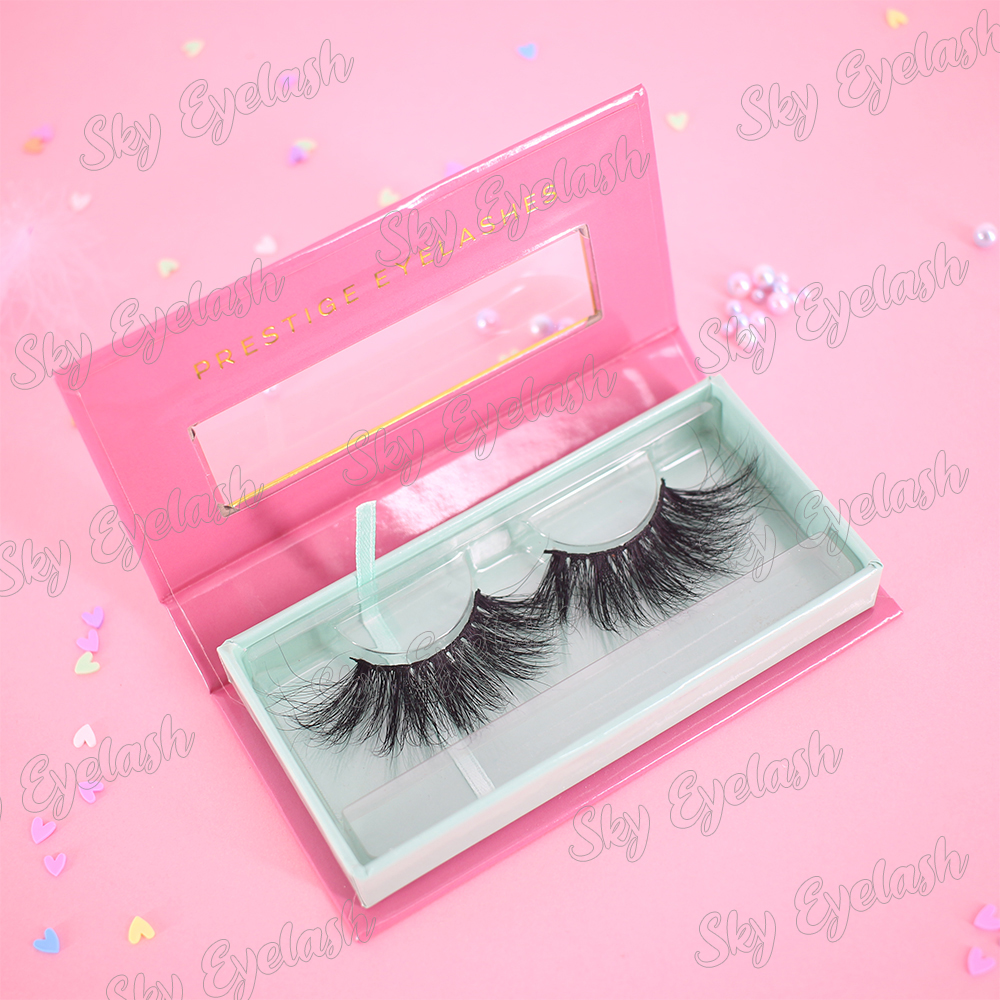 Wholesale younique eyelashes with own brand eyelash package box to Canada