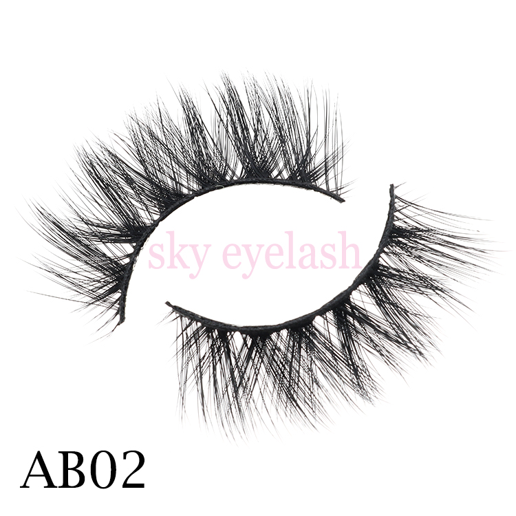 Lash vendor supply wispy eyelashes clear band with private label packaging