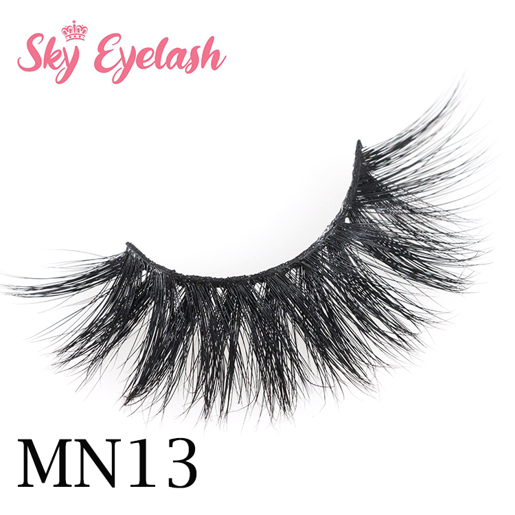 Eyelash vendor wholesale strip eyelash glue 3D mink fake lashes with private label CO