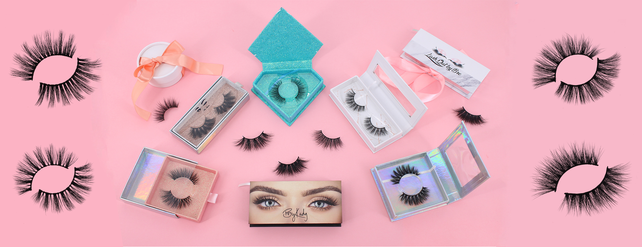 3D mink lashes wholesale with eyelash glue mink lashes near me