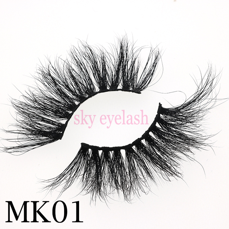 Mink lash supplies wholesale new style 25mm 3D mink eyelashes with adhesive