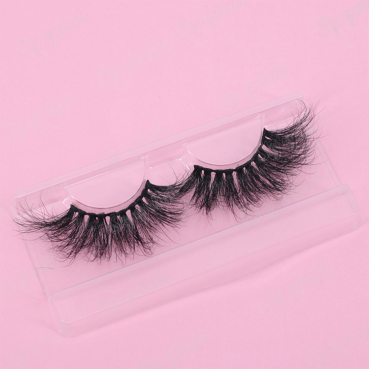 Lash manufacturer wholesale long 25mm 3D mink eyelashes with customized boxes CO