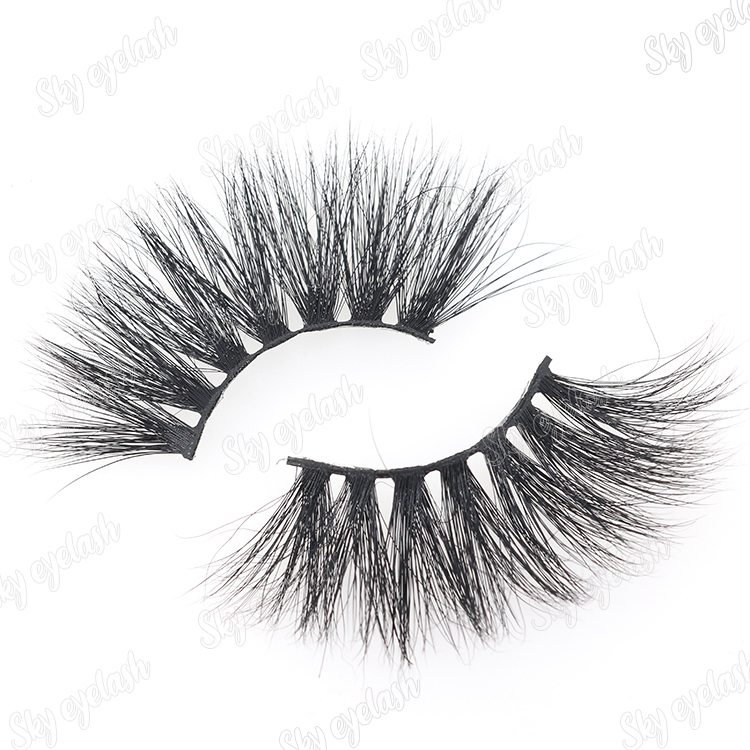 Eyelash manufacturer wholesale 25mm long 3D mink eyelashes with cheap price to Nigera CO