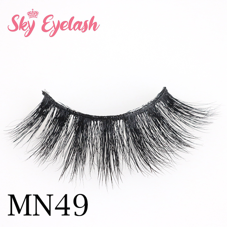 curling voluminous 3d mink fur false lashes eyelash with your own brand European American style AW