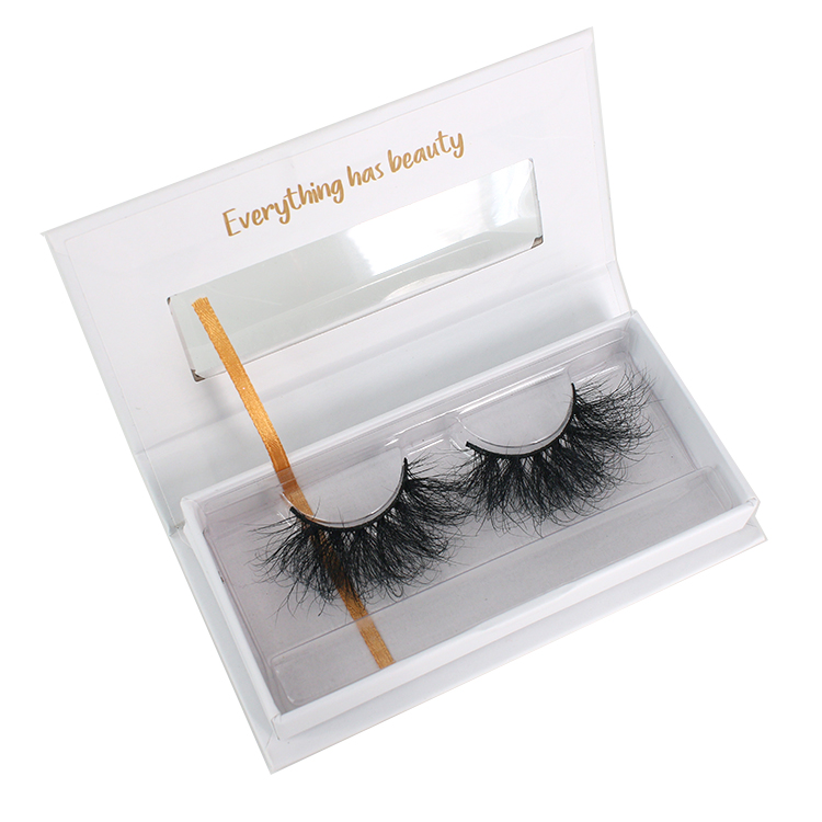 2021 suppliers wholesale eyelash packaging box for Siberian mink lash to America