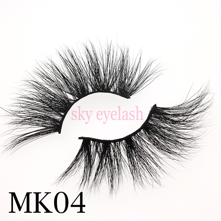 Sky eyelash vendor wholesale best quality mink lashes 25mm with factory price